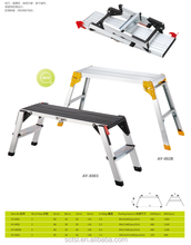 Aluminum folding working platform ladder for sale