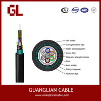 outdoor sm 36 fiber armouring loose tube optical cable gyta53 for lighting