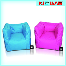 Heated small armrest kids bean bag sofa kids lazy boy chair