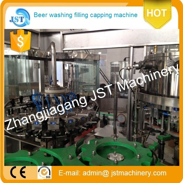 2000bph automatic L- type beer vacuum filling factory
