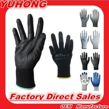 PU518 2016 new design Cheap Price 13G black PU Work Gloves Palm Coated ,working gloves,Workplace Safety Supplies,Safety Gloves