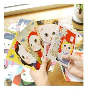 Vintage Cute Cats choo Postcards group cartoon Christmas Card/Greeting Card/ Postcard Gift