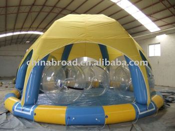 Quick-set swimming pool for water ball(YCD-002 8X8m)