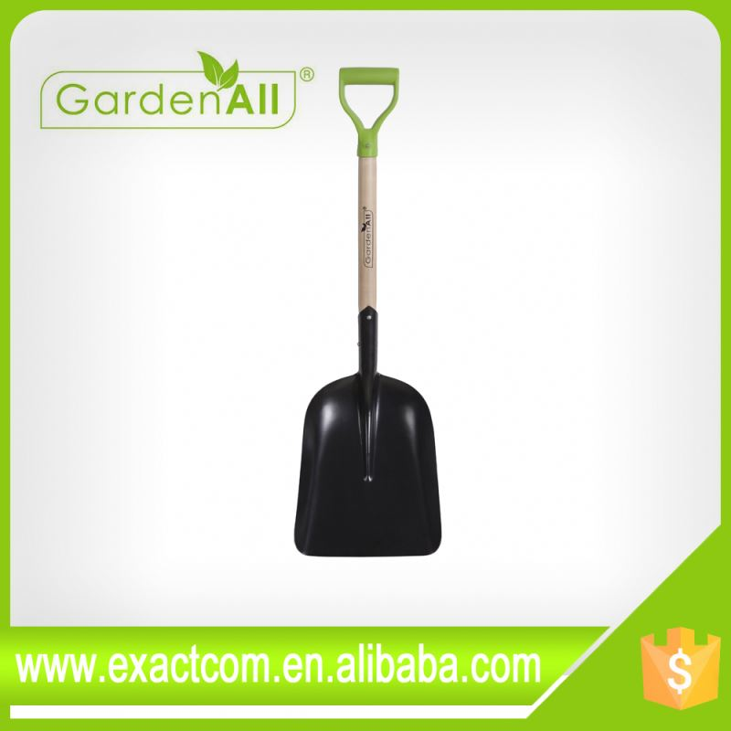 ERGONOMIC HANDLE STEEL SCOOP SHOVEL
