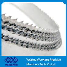 65Mn steel strip meat cutting bandsaw blades, customized teeth type