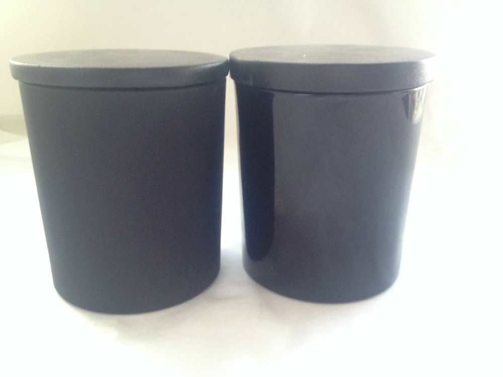 wholesale frosted black glass jar for candle glass holders