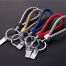 2017 Fashion Braided Leather Car keyring For Men llaveros de cuero