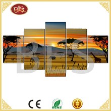 Natural scenery painting,5 panel canvas wall art