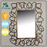 Antique Silver Oval wall cheap frameless mirror wholesale