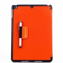 Laptop stand leather case for ipad air pen case colorful leather cover