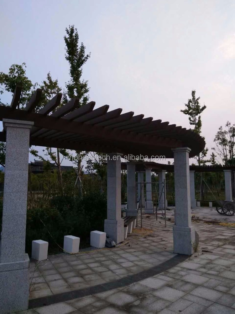 Outdoor wpc garden decoration pergola