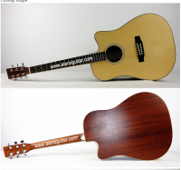 Cutway Shape High Quality Dreadnaught acoustic guitar musical instrument