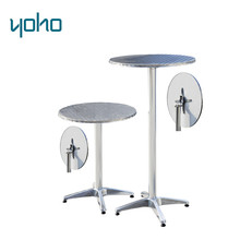 Adjustable Aluminium Garden Round Outdoor Indoor small cafe bar table/high top bar cocktail tables