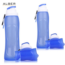 Collapsible Water Bottle Silicone Bpa Free Water Bottle Hiking Gym Water Bottle <strong>Sports</strong>