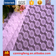 African textile wholesale Polyester Jacquard Lace Fabric For Clothing