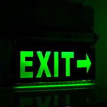 Guangdong led emergency led sign lighting exit running safe light