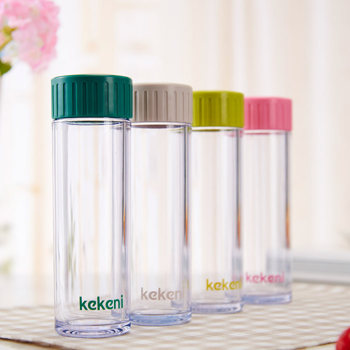 Healthy Drinking Suction Cup Travel Plastic Carbon Filter plastic Water Bottle
