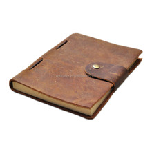 Noble A4 A5 A6 vintage genuine leather cover notebook / notebook leather customized logo manufacturer cheap price