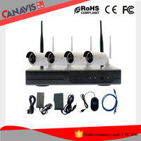 New cctv security system product 4ch high definition NVR 1 megapixel IP camera wireless kit