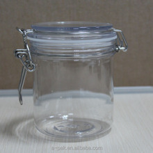 KS-500D High Quality 500g Clear PET Kilner Jar Clip top jar Airtight jar for cosmetic packaging