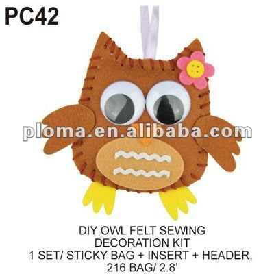 (PC42) DIY OWL FELT SEWING DECORATION KIT Nonwoven Fabric