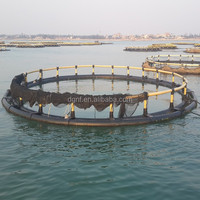 Storm and wave resist circle offshore aquaculture fish cage