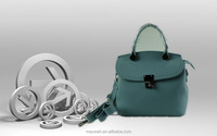 New Fashion Strip L.Blue PU Lady Causal Handbag