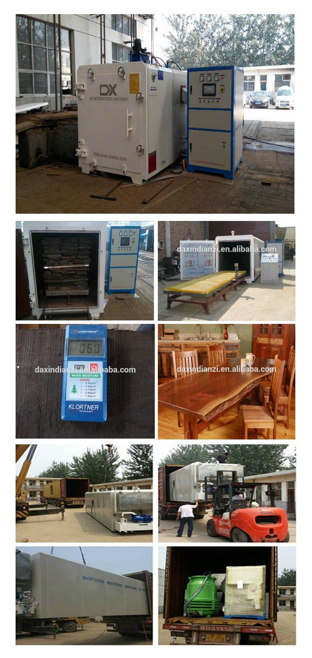 hf vacuum acacia wood timber lumber drying kiln