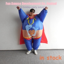 halloween funny mascot adult fat super hero inflatable costumes