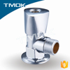 for basin bathroom toilet chromed plated lead free brass stem angle seat valve mixing valve three way flow water meter