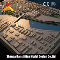 Artificial plastic model plant for architectural scale model layout