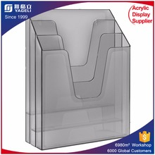acrylic office file holder / table file rack / acrylic book display
