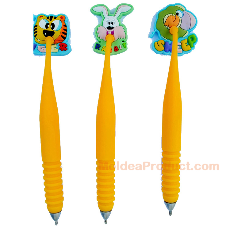 3D Logo Pen - Promotional 3D custom soft PVC souvenir Pen