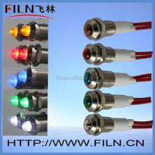 red signal lamp 14mm install hole pilot lamp 24v with wire LED 500000h