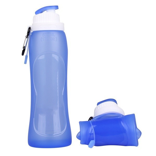 Hot selling foldable silicone soft glass water bottle with silicone sleeve