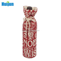 Wholesale high quality wine bottle cotton Christmas gift bag wholesales