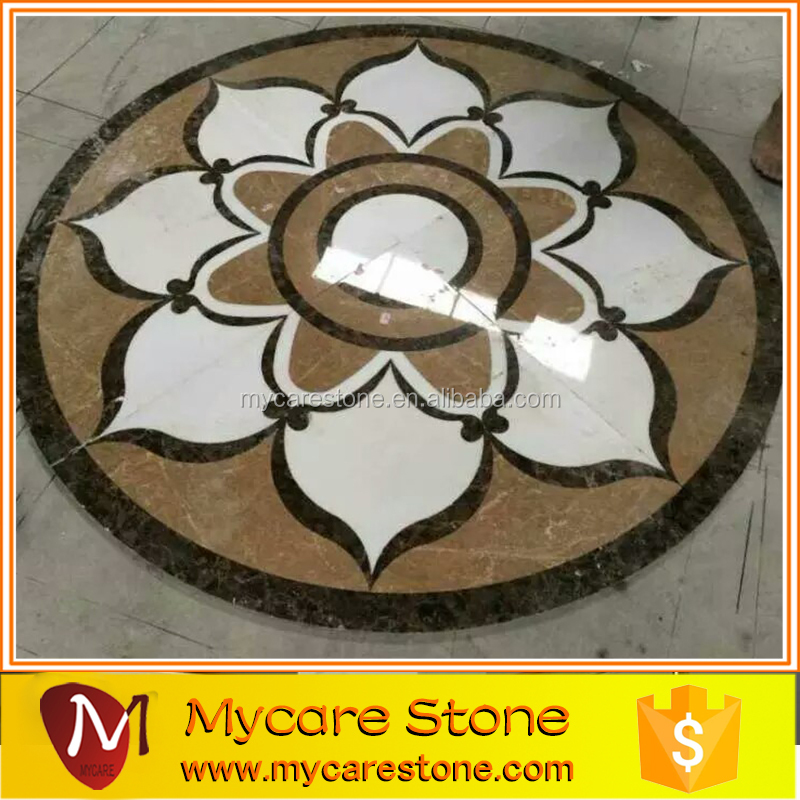 flower waterjet marble tile big size mosaic tile design floor pattern lobby marble flooring design