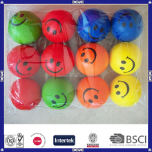china supplier high quality smiley ball pu stress ball