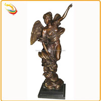 Life Size Decor Brass Beauty Dancing Nude Angel Naked Sex Girl Statue