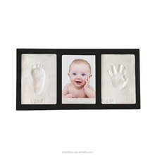 Baby Wooden Photo Frame Handprint And Footprint Frame Package Mold Kit Picture Frame Baby Gift Keepsakes