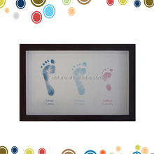 Baby 1st year handprint and footprint inkless pad photo frame