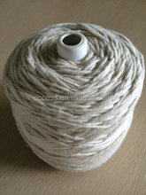 1/0.7nm cotton roving yarn raw white on cone
