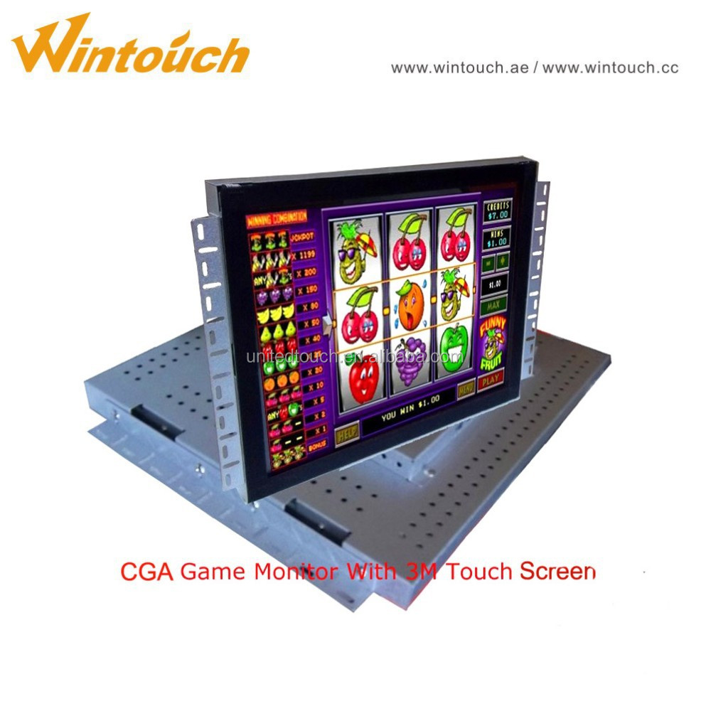 "17"" 19"" 22"" 3M WMS/POG/FOX340/T340 IR touch screen open frame monitor for gaming board machine"