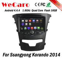 Wecaro WC-SY8067 Android 4.4.4 car radio 3g dvd gps for ssangyong korando 2014 with radio 3G wifi playstore