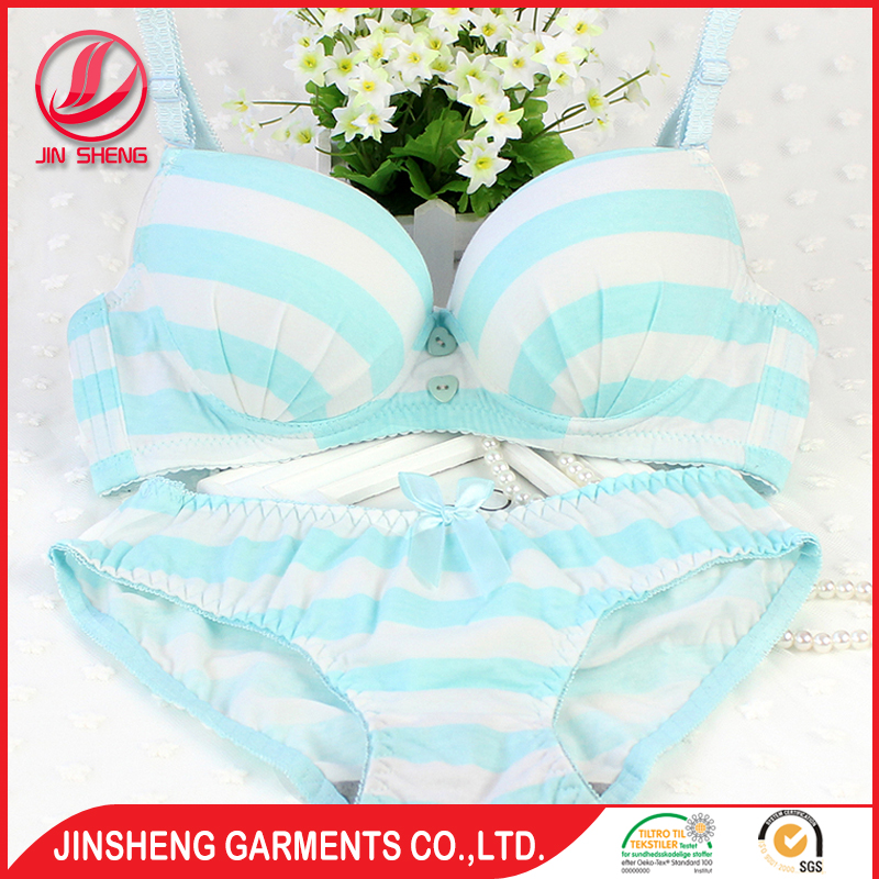 Cartoon Print Kitty Sexy Girl Cotton Bra And Panty Set Underwear Hj391 Accept Oem
