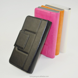 4 inch leather universal flip phone case mobile phone flip leather case