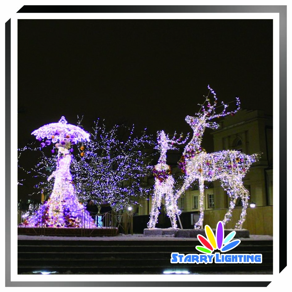 Christmas Decoration Lights 3D LED Motif Light Reindeers