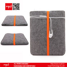 Portable hand crafted dark grey felt pouch for ipad 1/2/3/4