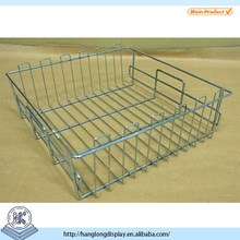 Rectangle stainless steel wire mesh baskets,storage metal wire mesh baskets HL005D