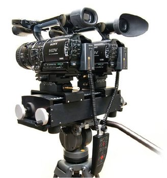 3D stereo camera rig